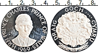 Изображение Монеты Великобритания Медаль 1969 Серебро Proof- Принц Чарльз