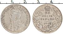 Изображение Монеты Канада 25 центов 1918 Серебро XF Георг V