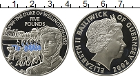Изображение Монеты Гернси 5 фунтов 2002 Серебро Proof