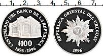 Изображение Монеты Уругвай 100 песо 1996 Серебро Proof-