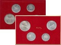 Изображение Подарочные монеты Ватикан Выпуск монет 1950 года 1950 Алюминий UNC Подарочный набор 195