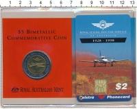 Изображение Подарочные монеты Австралия 5 долларов 1998 Биметалл UNC