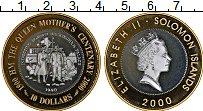 Изображение Монеты Соломоновы острова 10 долларов 2000 Серебро Proof Жизнь и эпоха Короле