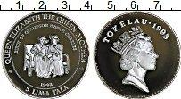 Изображение Монеты Токелау 5 тала 1995 Серебро Proof Елизавета II королев