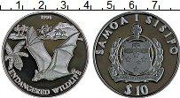 Изображение Монеты Самоа 10 долларов 1994 Серебро Proof Сохранение животного
