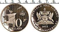 Изображение Монеты Южная Америка Тринидад и Тобаго 10 долларов 1972 Серебро Proof