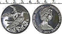 Изображение Монеты Виргинские острова 1 доллар 1973 Серебро Proof