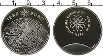 Изображение Монеты Эстония Жетон 2011 Серебро Proof Привет Евро