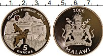 Изображение Монеты Малави 5 квач 2006 Серебро Proof Фауна Африки