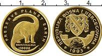 Изображение Монеты Европа Босния и Герцеговина 10000 динар 1993 Золото Proof