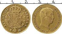 Изображение Монеты Европа Испания 80 реалов 1822 Золото UNC-