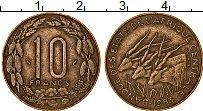 Изображение Монеты Центральная Африка 10 франков 1983 Латунь XF