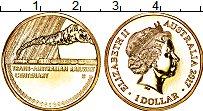 Изображение Монеты Австралия 1 доллар 2017 Латунь UNC 100 лет транс-австра