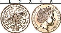 Изображение Монеты Австралия 20 центов 2017 Медно-никель UNC Год инвалидов