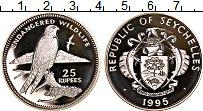 Изображение Монеты Сейшелы 25 рупий 1995 Серебро Proof Сохранение животного