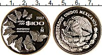 Изображение Монеты Мексика 100 песо 1987 Серебро Proof-