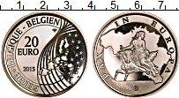 Продать Монеты Бельгия 20 евро 2015 Серебро