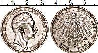 Изображение Монеты Германия Пруссия 3 марки 1909 Серебро VF