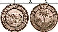 Изображение Монеты Либерия 1/2 цента 1941 Медно-никель UNC-