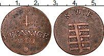 Продать Монеты Саксен-Веймар-Эйзенах 4 пфеннига 1821 Медь