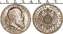 Продать Монеты Баден 5 марок 1902 Серебро
