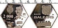 Изображение Монеты Испания 2000 песет 2018 Посеребрение Proof