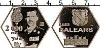 Изображение Монеты Испания 2000 песет 2019 Посеребрение Proof