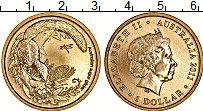 Изображение Монеты Австралия 1 доллар 2011 Латунь UNC Сахарная летяга