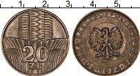 Изображение Монеты Польша 20 злотых 1974 Медно-никель XF ФАО