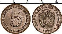 Изображение Монеты Северная Америка Панама 5 сентесим 1975 Медно-никель XF