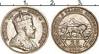 Продать Монеты Восточная Африка 25 центов 1906 Серебро