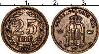 Изображение Монеты Швеция 25 эре 1889 Серебро XF Оскар II