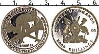 Изображение Монеты Уганда 2000 шиллингов 2003 Серебро Proof- Олимпийские игры, сп