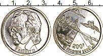 Изображение Монеты Бельгия 200 франков 2000 Серебро UNC Миллениум