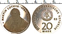 Изображение Монеты ГДР 20 марок 1983 Серебро Proof-