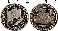 Изображение Монеты Ангилья 2 доллара 1970 Серебро Proof-
