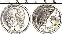 Изображение Монеты Бельгия 200 франков 2000 Серебро UNC
