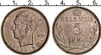 Изображение Монеты Бельгия 5 франков 1936 Медно-никель XF Леопольд III