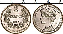 Изображение Монеты Люксембург 2 франка 1914 Серебро UNC