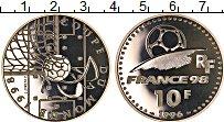 Изображение Монеты Франция 10 франков 1996 Серебро Proof Чемпионат Мира по фу