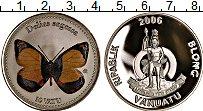 Изображение Монеты Вануату 10 вату 2006 Посеребрение Proof Бабочка