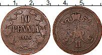 Изображение Монеты Финляндия 10 пенни 1866 Медь