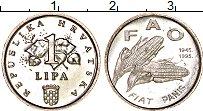 Изображение Монеты Хорватия 1 липа 1995 Алюминий UNC 50 лет ФАО