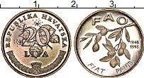 Изображение Монеты Хорватия 20 лип 1995 Медно-никель UNC