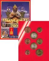 Изображение Подарочные монеты Монголия Набор монет Евро-модель 2005  UNC