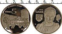 Изображение Монеты Гернси 5 фунтов 2016 Посеребрение Proof-