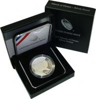 Изображение Подарочные монеты США 1 доллар 2015 Серебро Proof