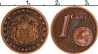 Продать Монеты Монако 1 евроцент 2001 сталь с медным покрытием