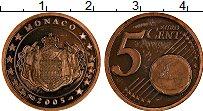 Продать Монеты Монако 5 евроцентов 2001 сталь с медным покрытием