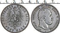 Изображение Монеты Пруссия 5 марок 1876 Серебро VF Вильгельм А